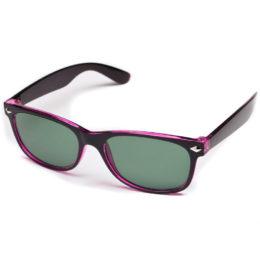 Солнцезащитные очки wayfarer чёрные с сиреневым