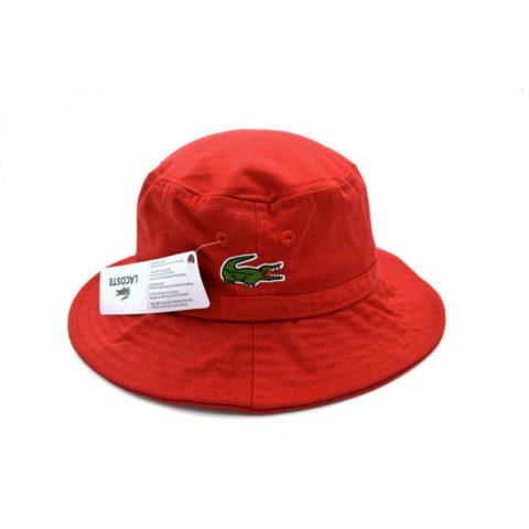 Красная панама Lacoste